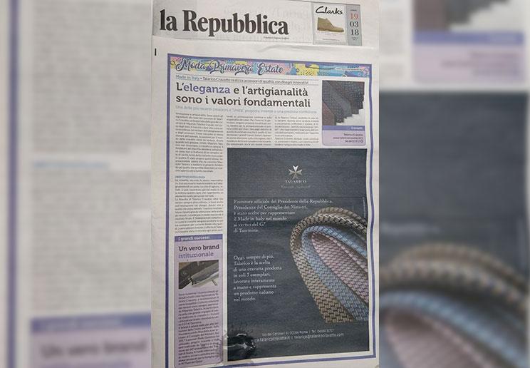 Talarico intervista sulla Reppublica